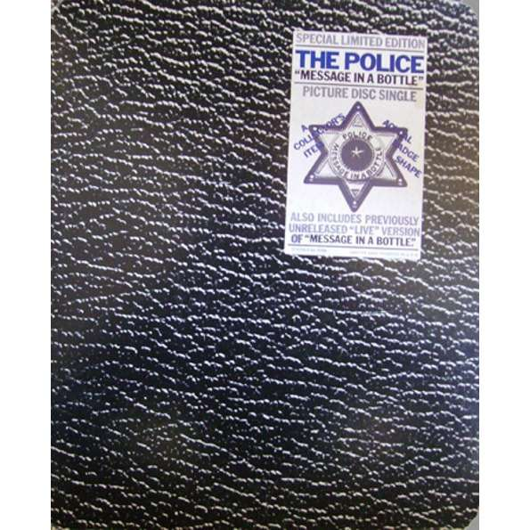 The Police Message In A Bottle (USA 1980 original Ltd 2-trk 7single shaped Picture Disc stickered pack ps)