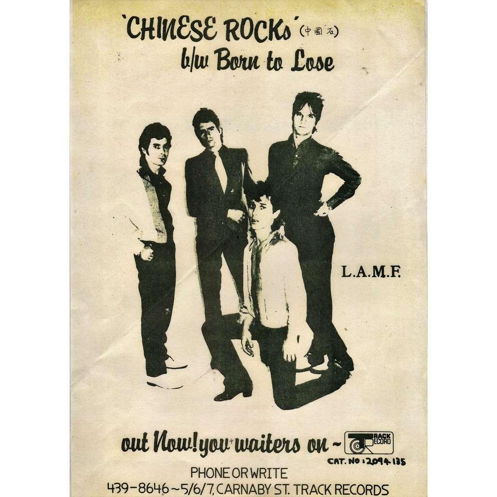 Heartbreakers Chinese Rock (UK 1977 original 'Track' 'single release' promo shop poster!!!)