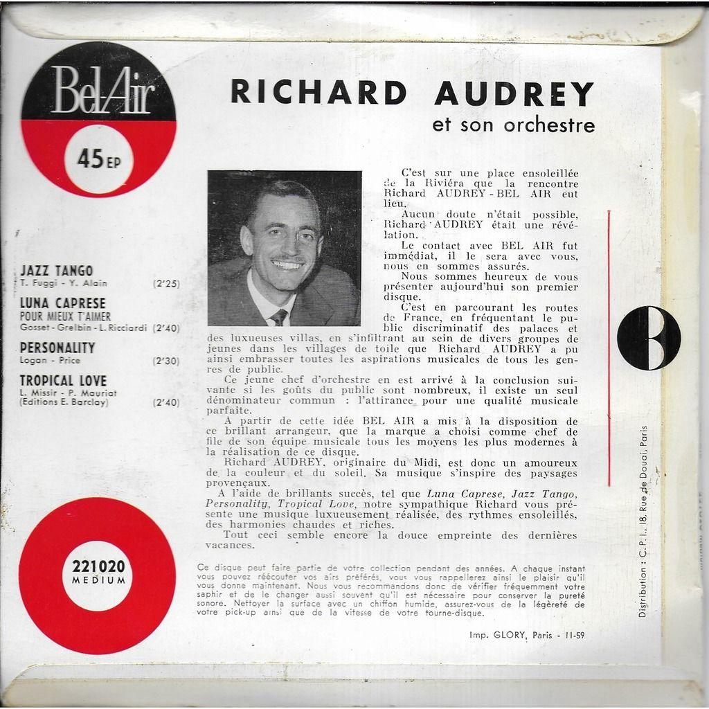 Richard AUDREY et son orchestre Jazz Tango
