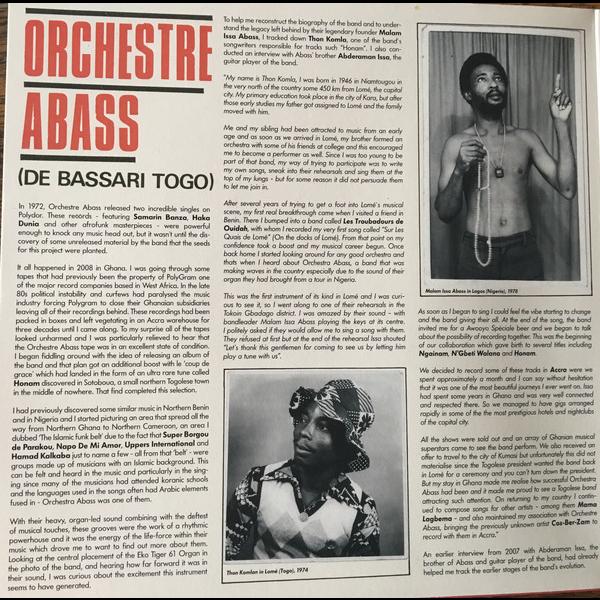 Orchestre Abass (De Bassari Togo) Afrobeat/Funk
