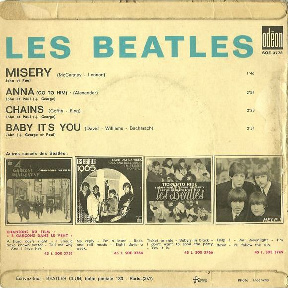 BEATLES, The misery