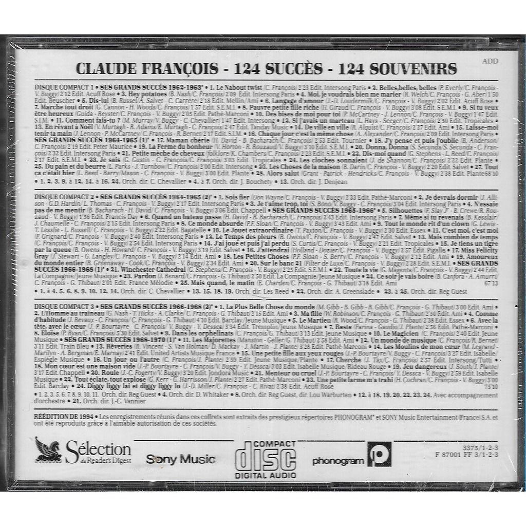 CLAUDE FRANCOIS 124 Succes - 124 Souvenirs