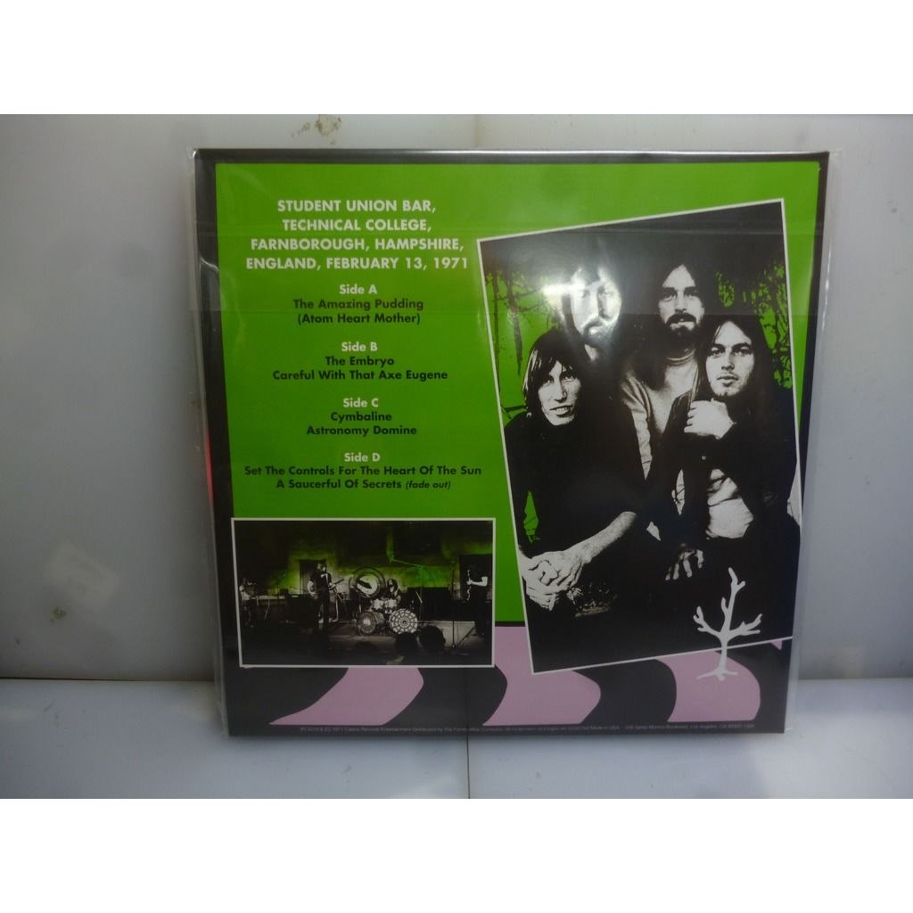Pink Floyd Technical College 1971. Farnborough, UK 1971. USA 2019 Ltd To 400 Gatefold Pink 2LP Vinyl
