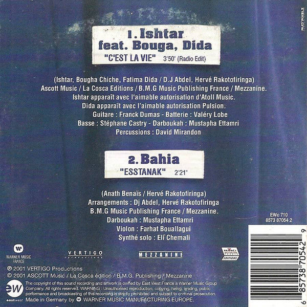 Ishtar / Bahia C'Est La Vie / Esstanak