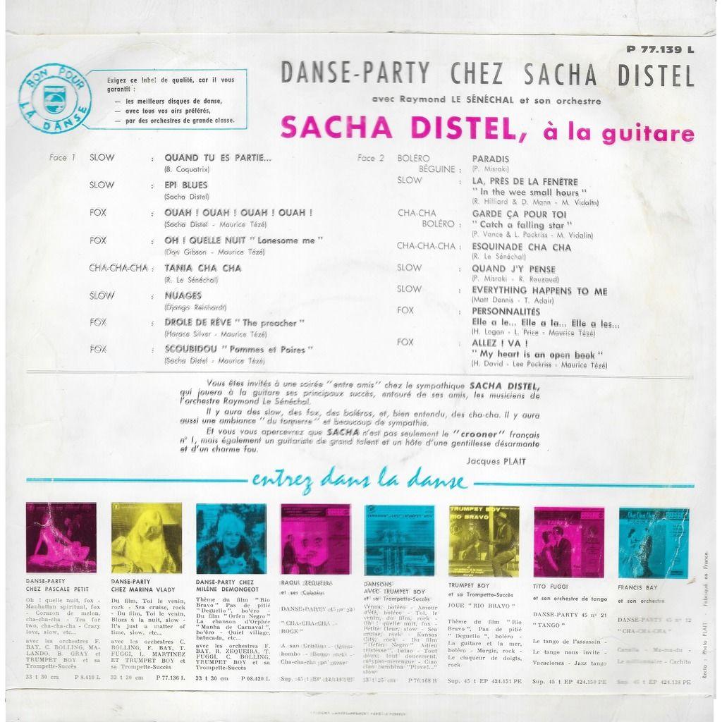 Sacha DISTEL Guitare Danse Party chez Sacha Distel: