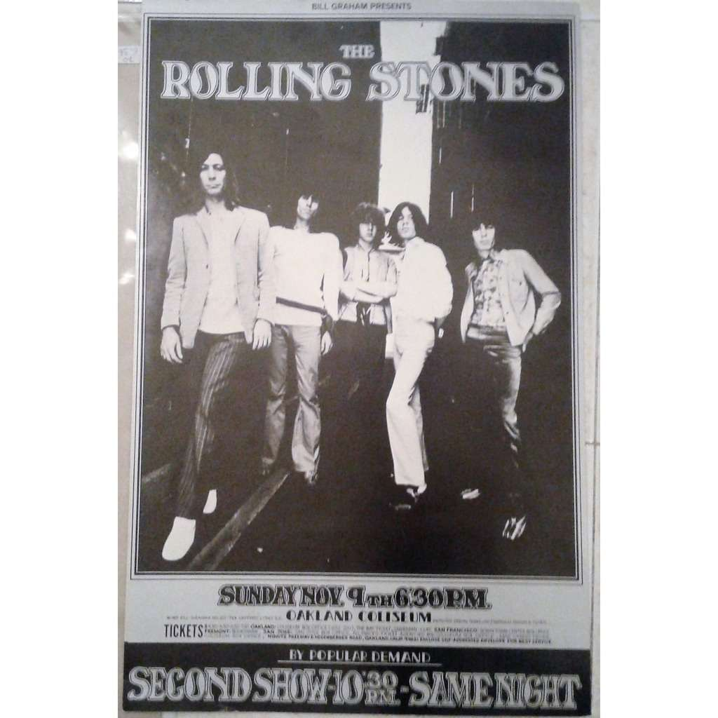 Rolling Stones Oakland Coliseum 09.11.1969 (USA original promo concert poster designed by Randy Tuten !!)