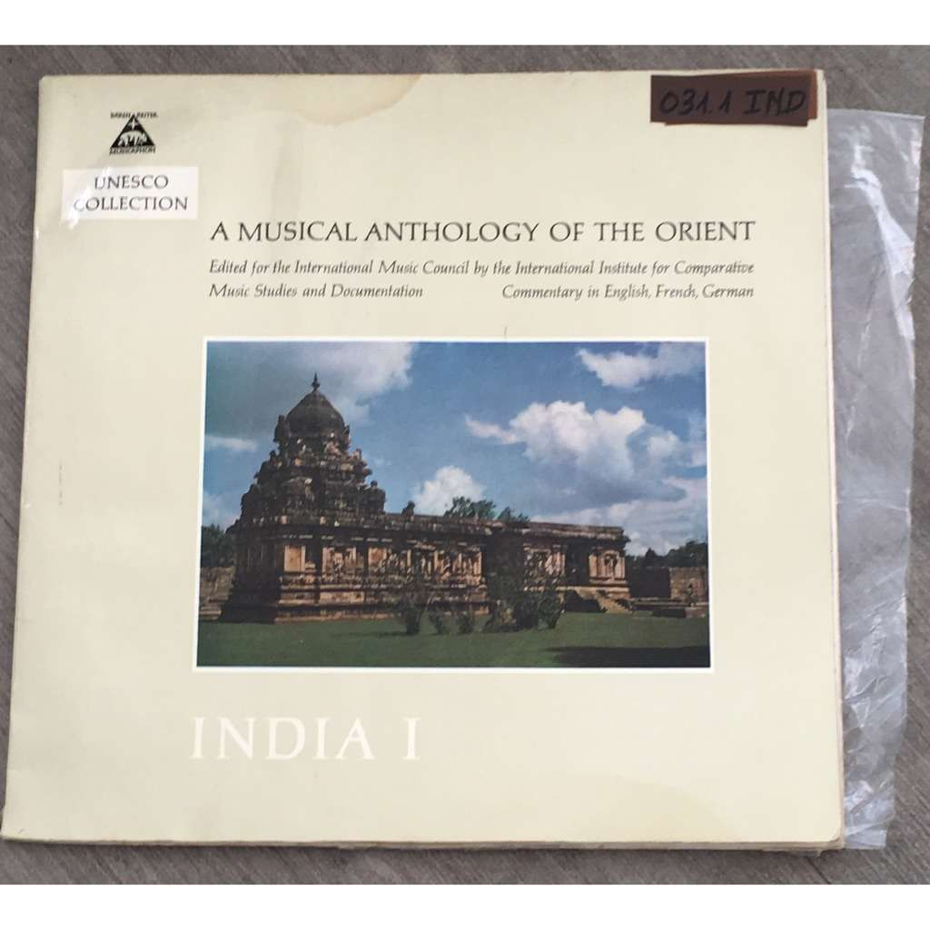 A MUSICAL ANTHOLOGY OF THE ORIENT india 1