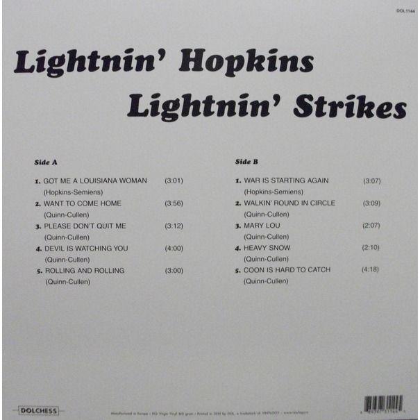 Lightnin' Hopkins Lightnin' Strikes
