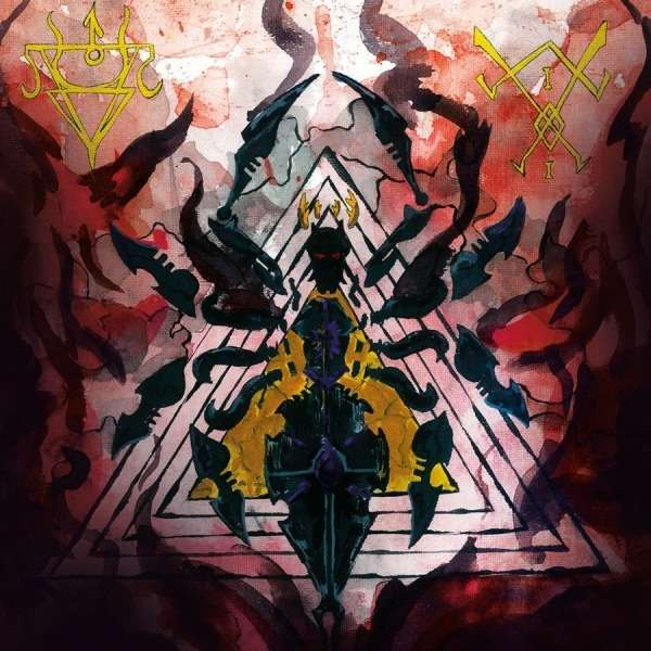 AMESTIGON / HERETIC CULT REDEEMER Split LP. Black Vinyl