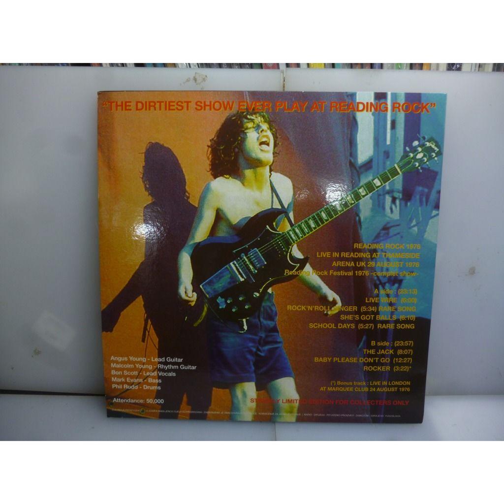 AC/DC Bloody Live. Reading '76. Thameside Arena, Reading, UK 1976. EU 2018 Green Vinyl LP.