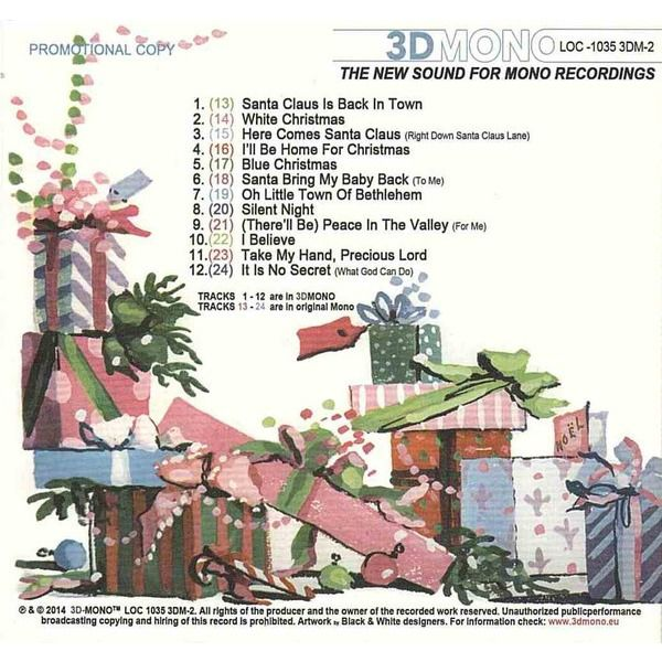elvis presley 001 CD digipack Christmas album 3D mono 24 songs