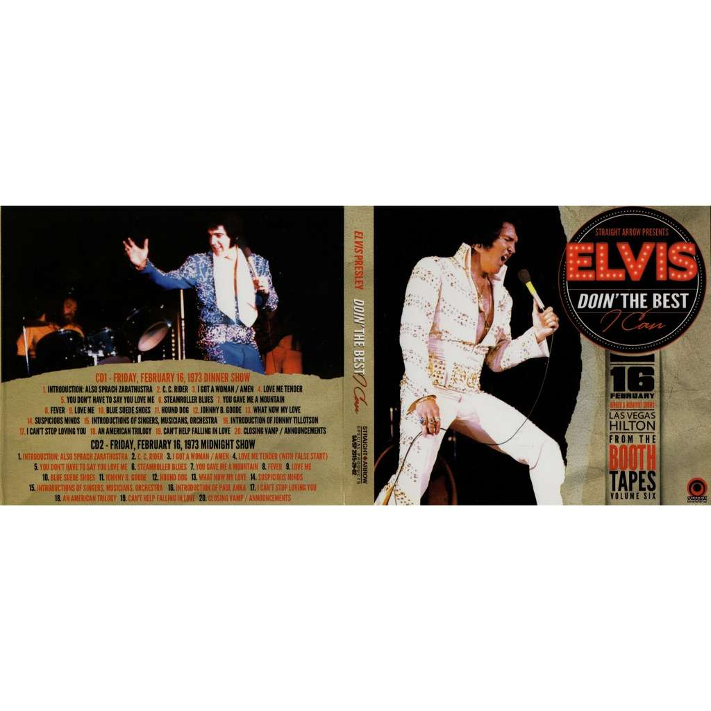 elvis presley 001 digipack 2 CD set Doin'the best i Can 16/2/73 las Vegas dinner and midnight shows