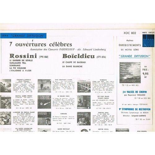 LINDENBERG EDOUARD, concerts Pasdeloup 7 ouverture célèbres : ROSSINI / BOÏELDIEU