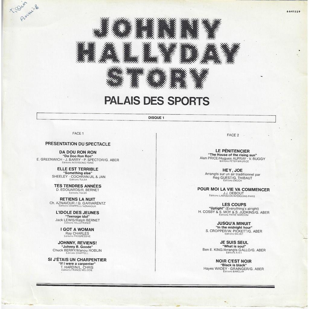 Johnny hallyday johnny hallyday story - Palais des sports