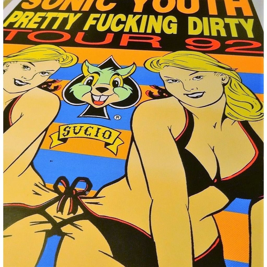 Sonic Youth Pretty Fucking Party Tour 1992 (USA 1992 original Ltd 500 'Kozik' signed concert Tour poster!)