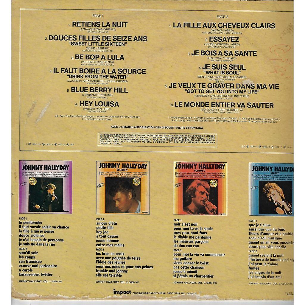 HALLYDAY Johnny VOL 4 disque d'or / retiens la nuit / douces filles de seize ans / be bop a lula
