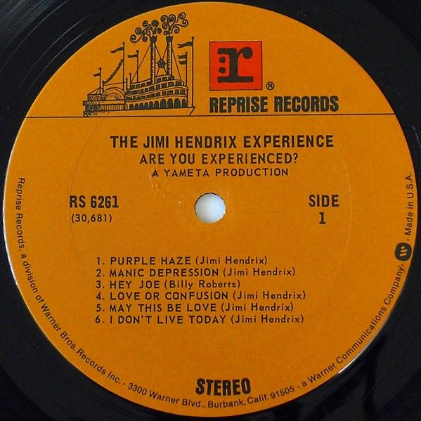 Jimi Hendrix Experience Are You Experienced? (USA 1974 3rd issue 11-trk LP on Reprise lbl full ps! UNPLAYED COPY!)