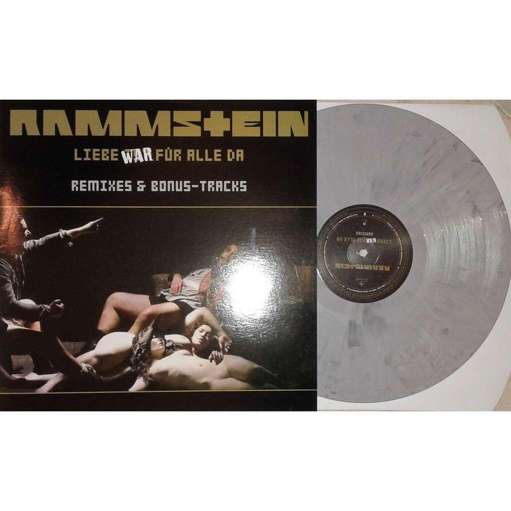 Rammstein Liebe War Für Alle Da (Remixes & Bonus-Tracks) (GREY wax)