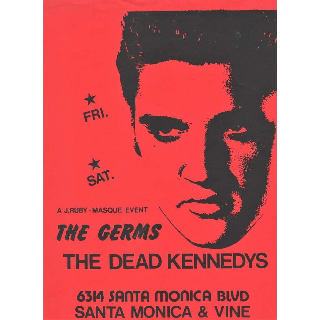 Germs / Dead Kennedys Santa Monica CA 01.13.1979 (USA 1979 original promo punk concert poster flyer!)