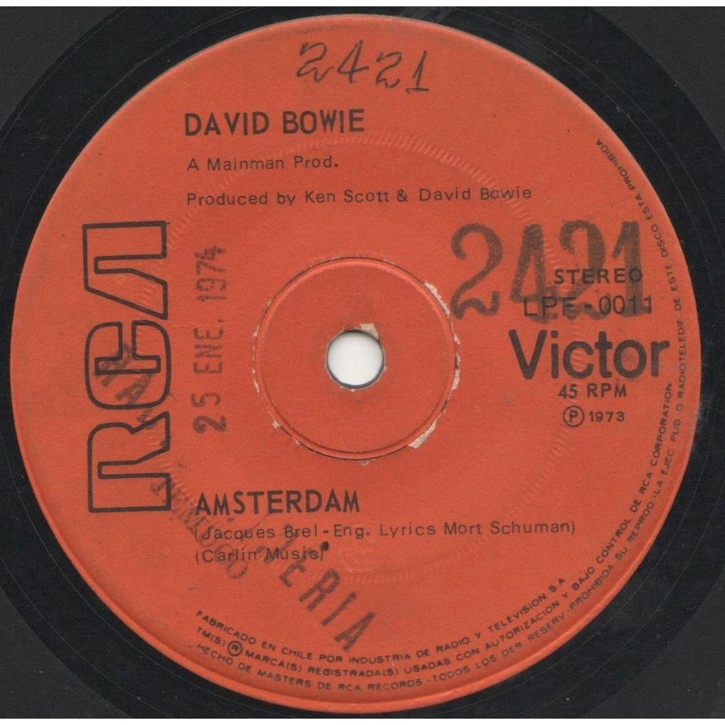 David Bowie Penas (Sorrow) (Chile 1973 original 2-trk promo 7single on RCA lbl)