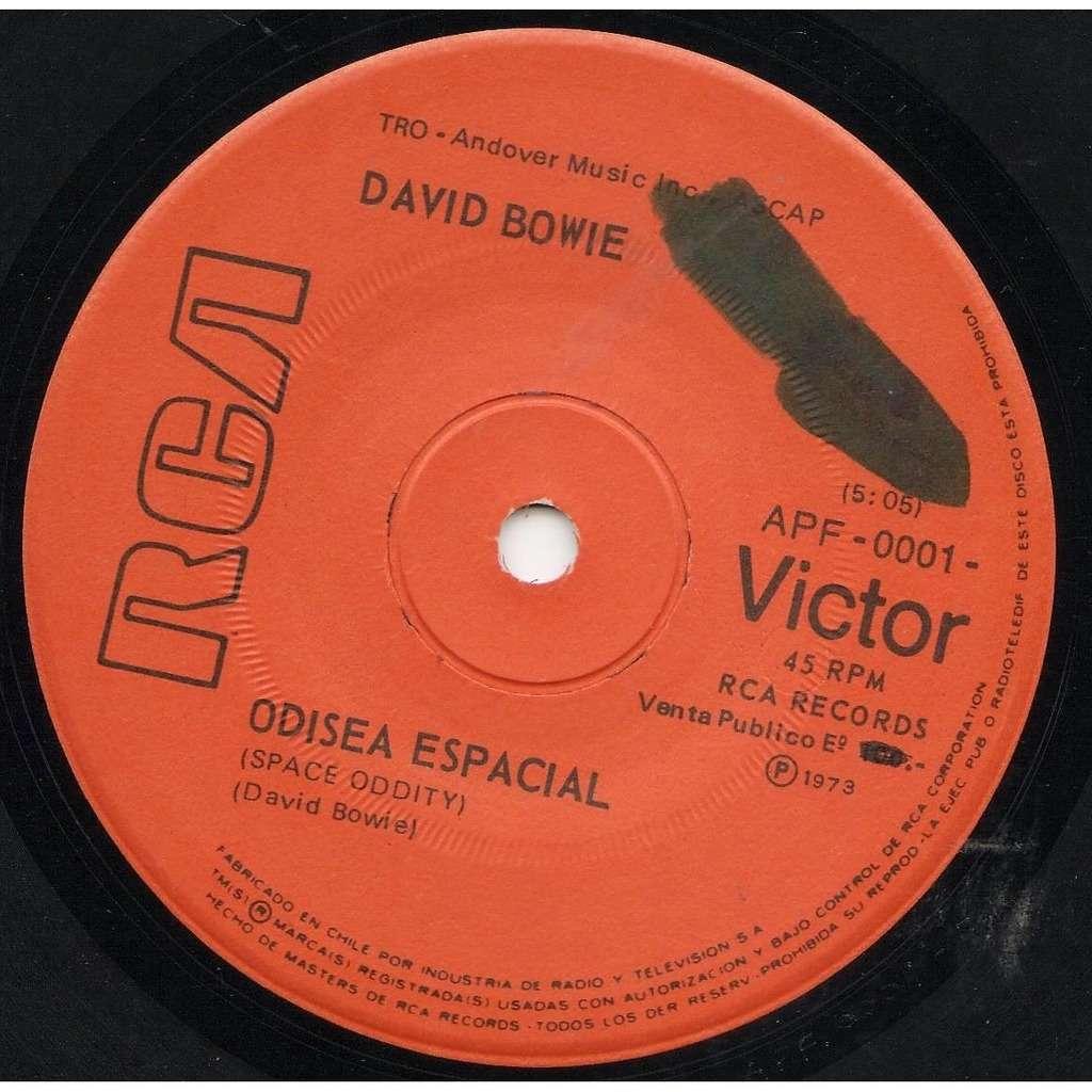 David Bowie Odisea Espacial (Space Oddity) (Chile 1973 original 2-trk 7single on RCA lbl)