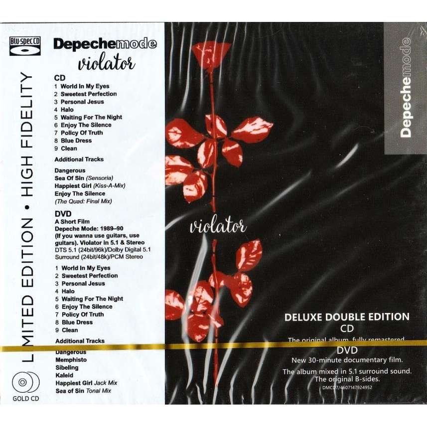 Depeche Mode Violator CD DVD Limited Edition High Fidelity New And Sealed Worldwide Free Shipping
