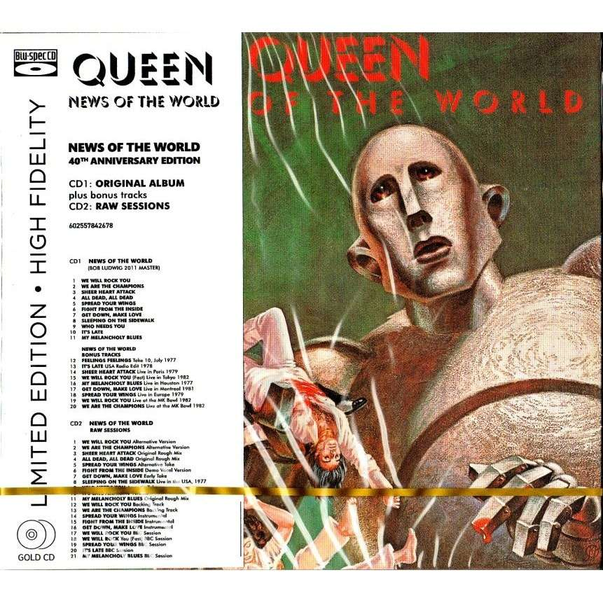 Queen News Of The World 2 CD Limited Edition High Fidelity OBI New And Sealed Worldwide Free Shipping