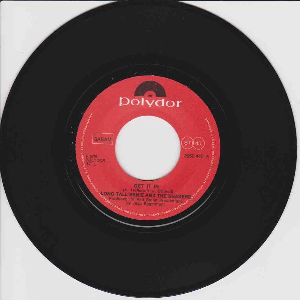 LONG TALL ERNIE AND THE SHAKERS. Get it in / I'm a Tiger