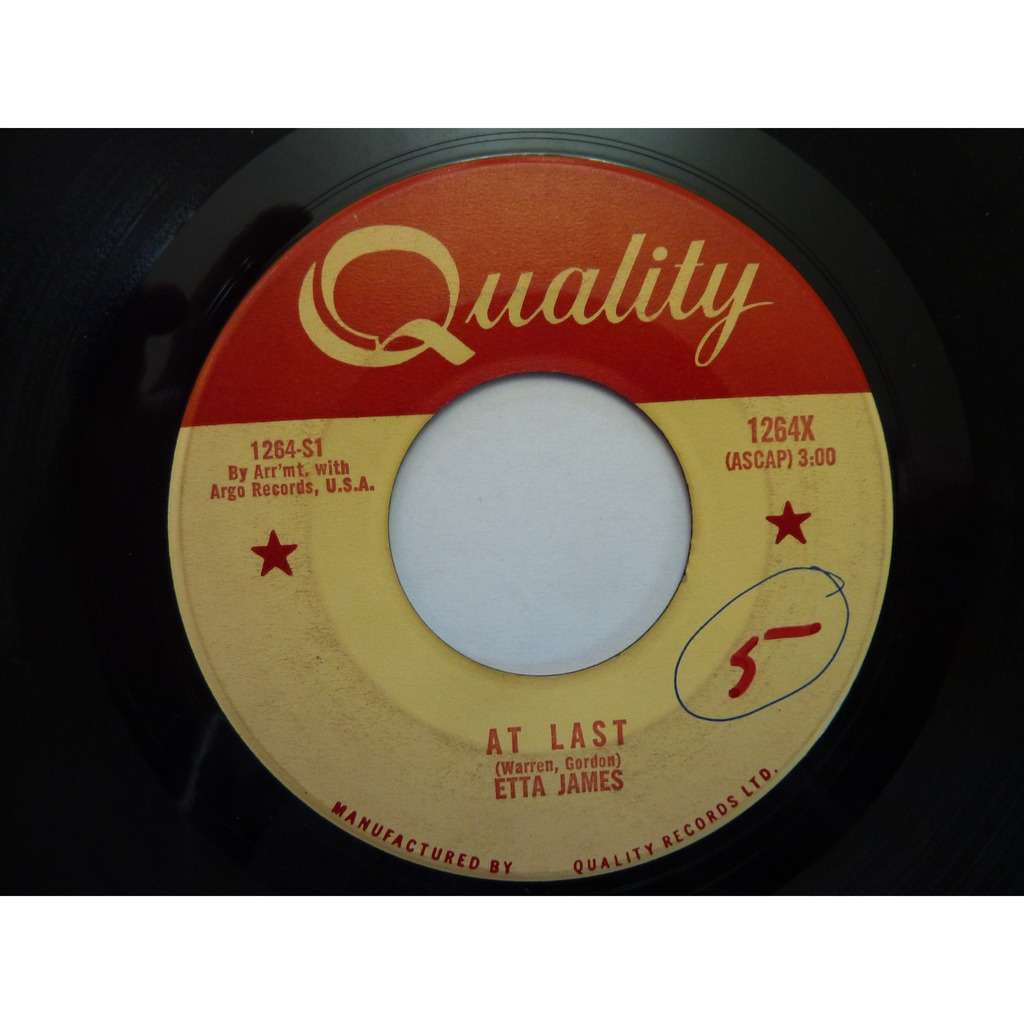 Etta James At Last / I Just Want To Make Love With You