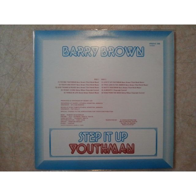 Barry Brown Step It Up Youthman ORIG.