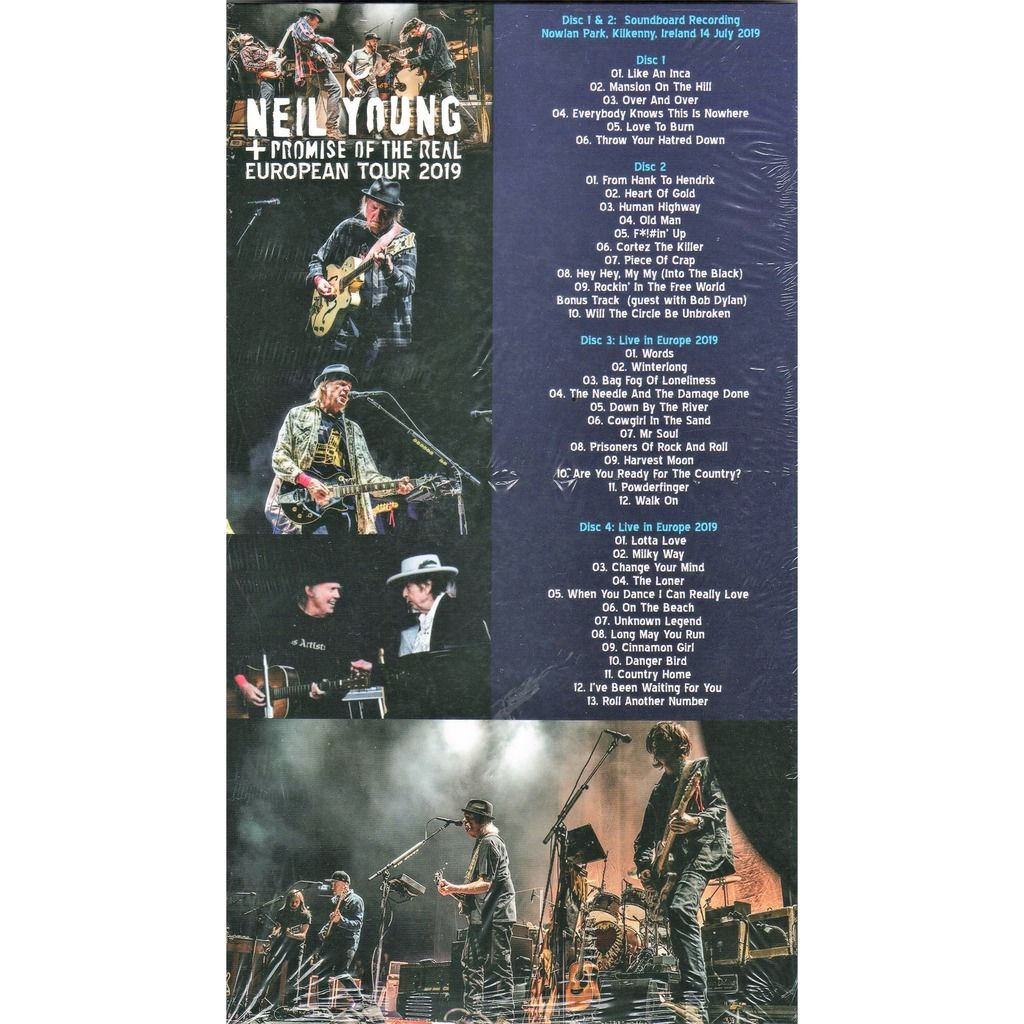 Neil Young + Promise Of The Real European Tour 2019 (Euro 2019 Ltd 300 no'd copies live 4CD box + booklet!)