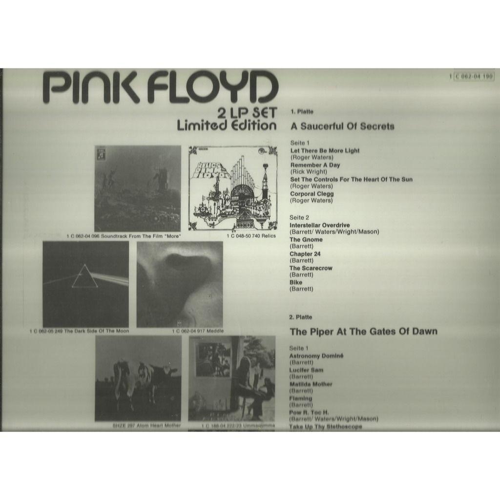 pink floyd 2lp set
