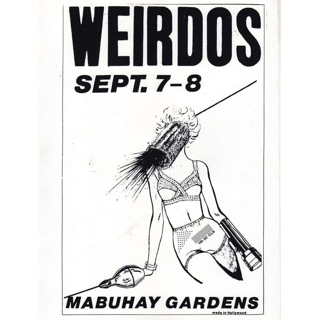 weirdos Mabuhay Gardens 07/08.09.1978 (USA 1978 original promo punk concert poster flyer!)