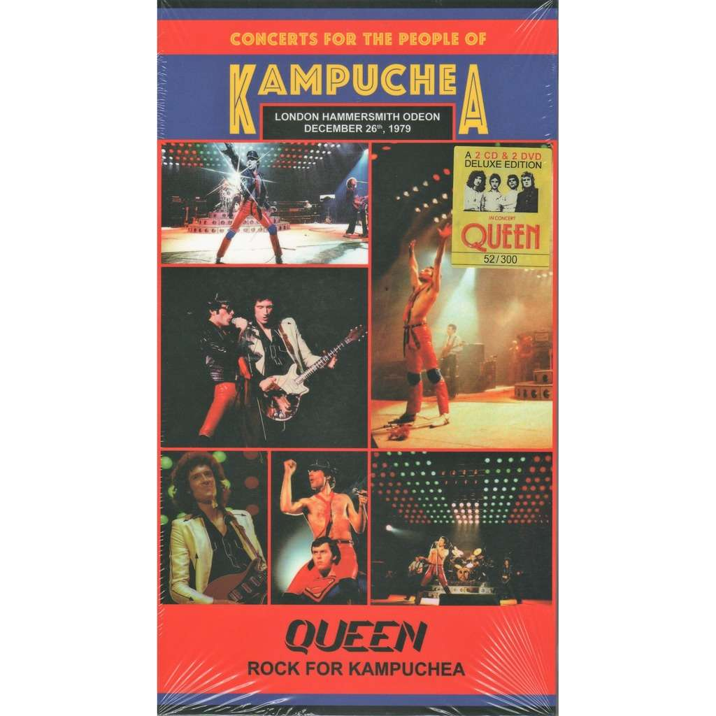 The Queen Rock For Kampuchea (Hammersmith Odeon London 26.12.1979) (Ltd 300 no'd copies 2cd+2dvd box+book!)