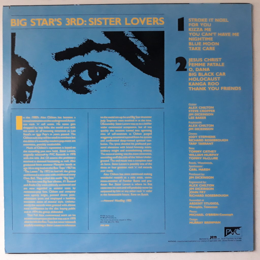 Big Star Big Star's 3rd: Sister Lovers