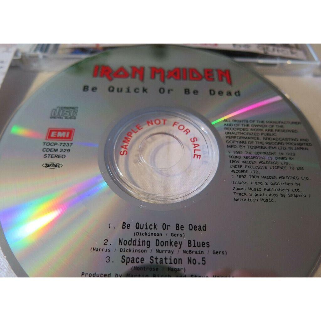 Iron Maiden Be Quick Or Be Dead (Japan 1992 original 'SAMPLE' 3-trk CD promo ps+obi & promo stkr!)
