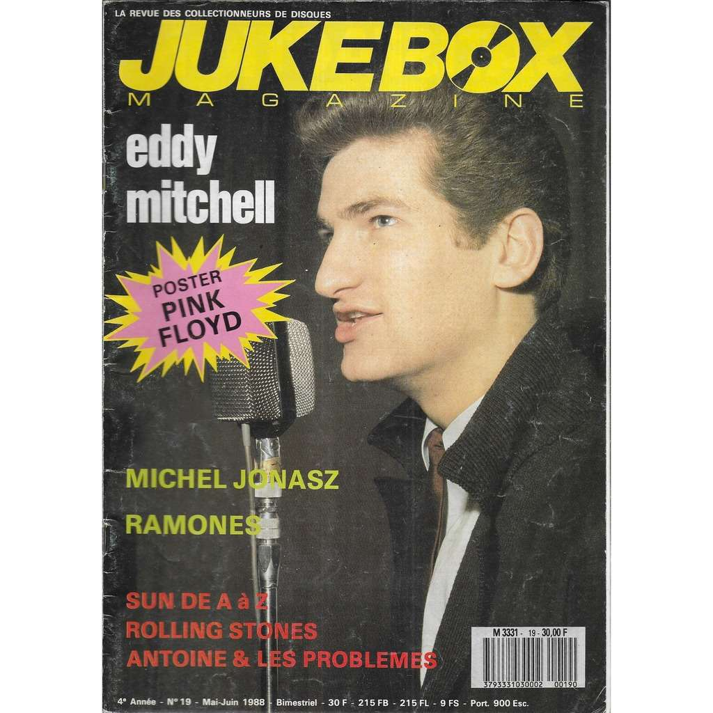JUKEBOX N° 19 (mai 1988) Eddy Mitchell, Michel Jonasz