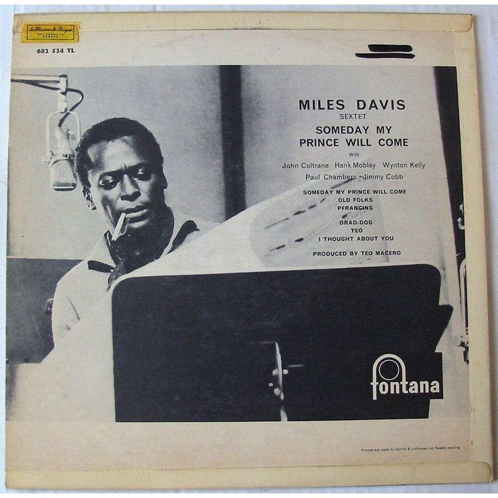 MILES DAVIS SEXTET COLTRANE CHAMBERS MOBLEY KELLY SOMEDAY MY PRINCE WILL COME