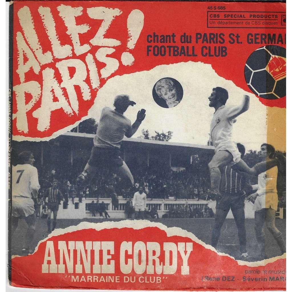 annie cordy Allez Paris Chant du Paris Saint Germain football club / si tu montes sur mon velo
