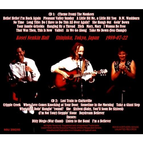 THE MONKEES LIVE IN SHINJUKU TOKYO JAPAN 1989 JULY 22nd 2 CD