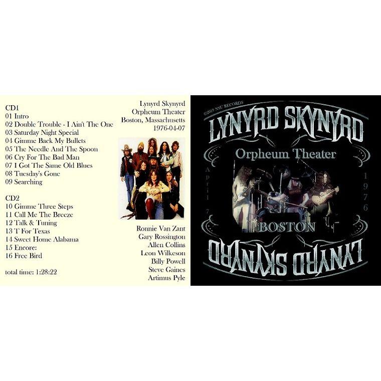 LYNYRD SKYNYRD LIVE ORPHEUM THEATER IN BOSTON, MASS 1976 APRIL 7th LTD CD