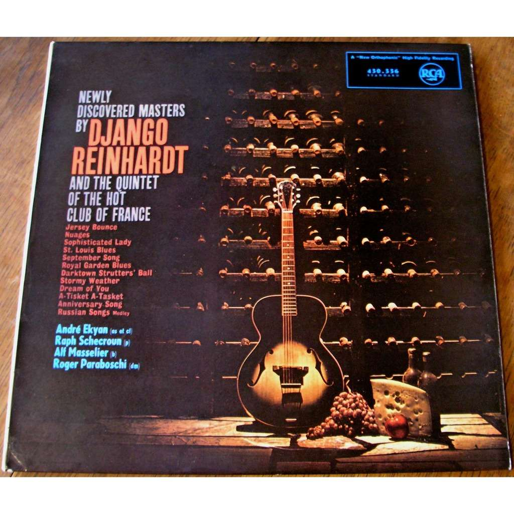 django reinhardt newly discovered masters by django reinhardt and the quintet of the hot club of france