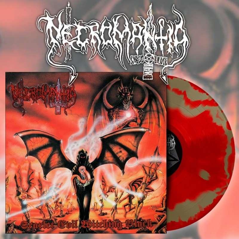 NECROMANTIA Scarlet Evil Witching Black. Swirl Vinyl