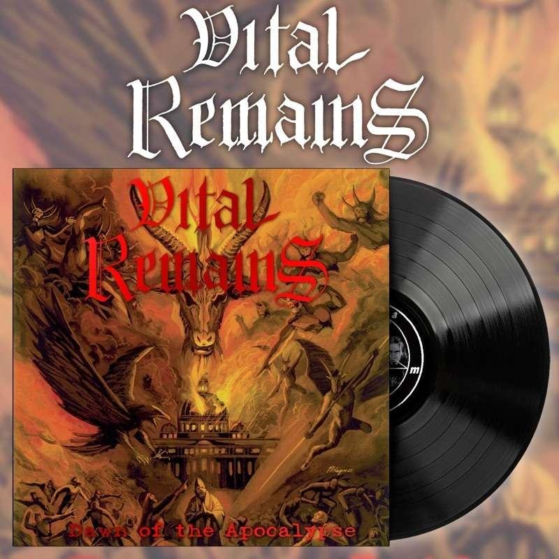 VITAL REMAINS Dawn of the Apocalypse. Black Vinyl