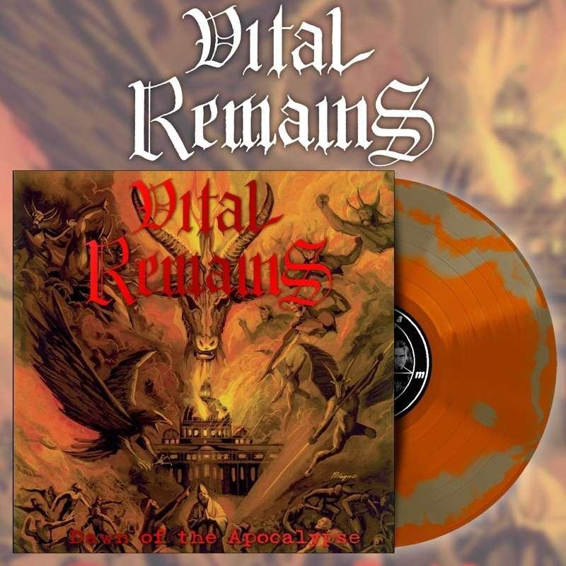 VITAL REMAINS Dawn of the Apocalypse. Swirl Vinyl