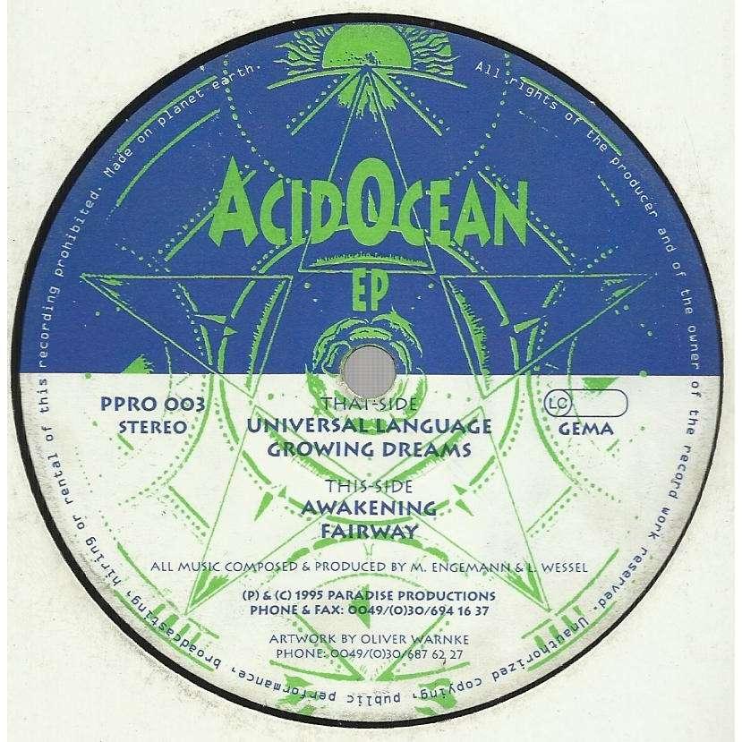 ACID OCEAN EP - 4 tracks - (universal language - growing dreams - awakening - fairway)