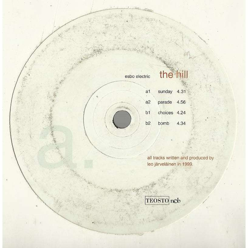 ESBO ELECTRIC the hill - e.p. 4 tracks - (sunday - parade - choices - bomb)