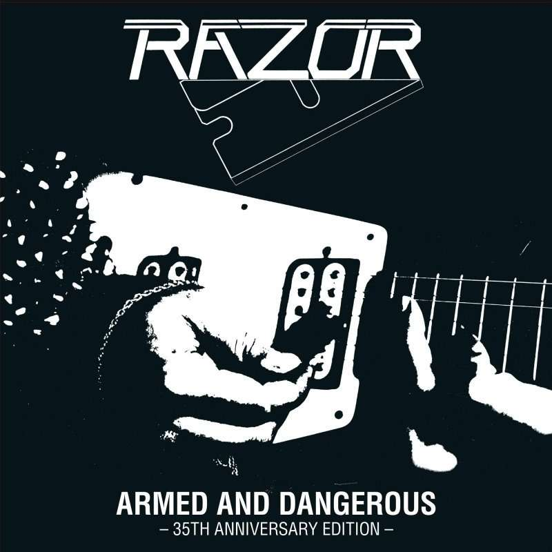 RAZOR Armed And Dangerous - 35th Anniversary Edition. Silver Vinyl