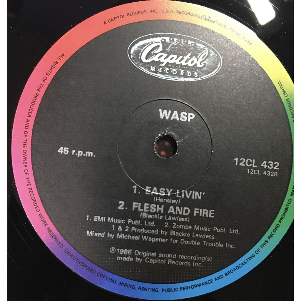 wasp 95-nasty, 45 RPM, Single,