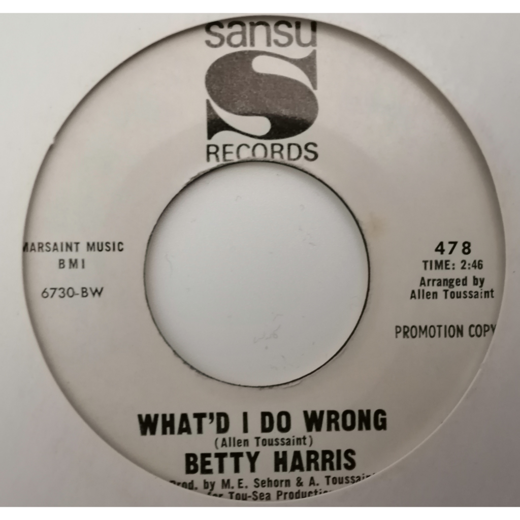 Betty Harris Mean Man +1 (soul/funk) us Promo